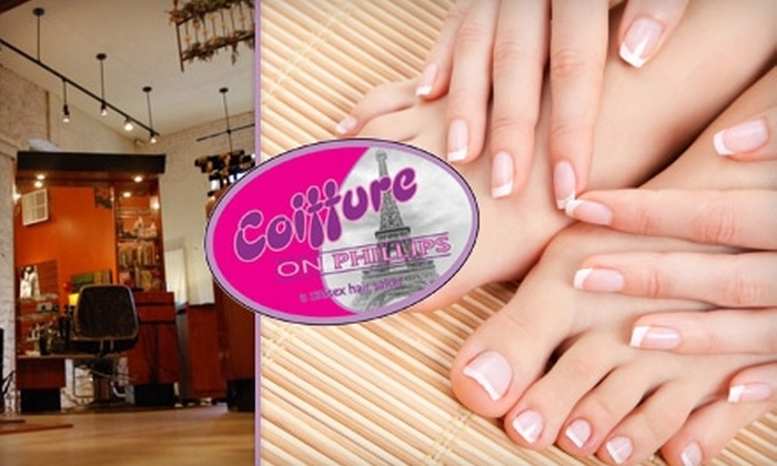 Coiffure on Phillips - Downtown: $25 for One Spa Manicure and Pedicure at Coiffure on Phillips