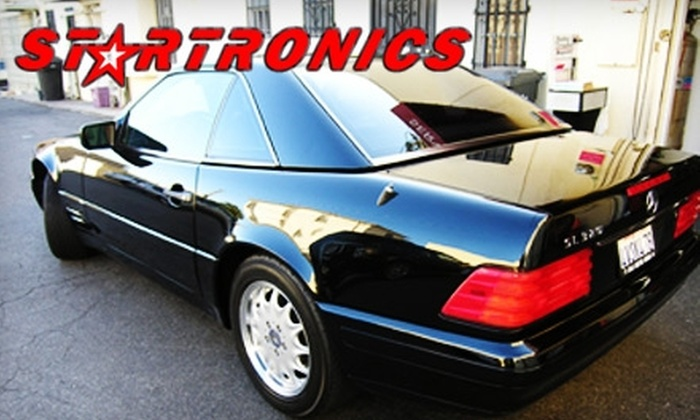 Startronics - Mid-City: $150 for 3M Auto Glass Tinting ($300 Value) or Pair of Hertz Auto Speakers with Installation ($350 Value) at Startronics in Santa Monica