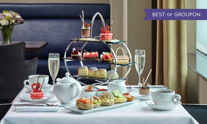 5* London Hilton on Park Lane - London: Chocolate Afternoon Tea with an Optional Glass of Champagne for Two at 5* London Hilton on Park Lane (Up to 46% Off)