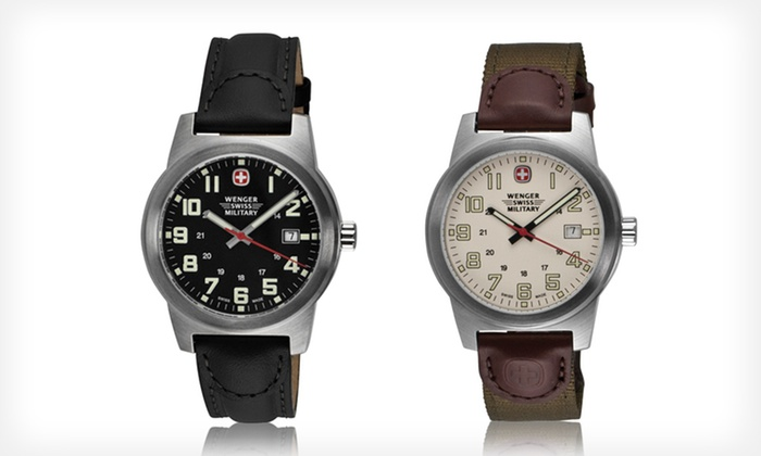 Wenger Swiss Military Watch: Wenger Swiss Military Watch (Up to 66% Off). Six Options Available. Free Shipping and Free Returns.