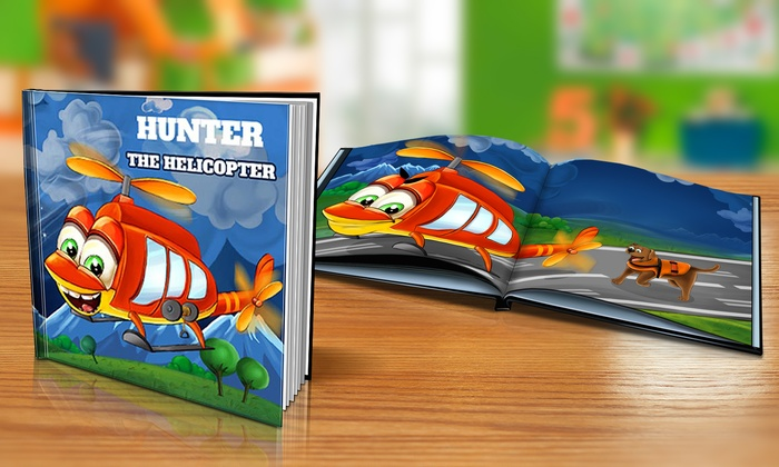 "Dinkleboo: $9 or $14 for Softcover or Hardcover ""The Helicopter"" Personalized Kids Book from Dinkleboo (Up to 65% Off)"