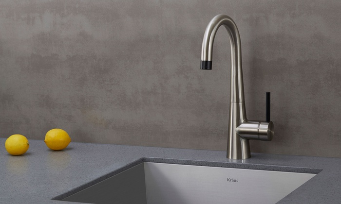 Kraus Crespo Single Lever Stainless Steel Kitchen Faucets ...