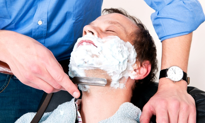 The Executive Cut and Shave - Canoga Park: Deluxe Men's Shave with an Executive Haircut or Massage at The Executive Cut and Shave (Up to 48% Off)