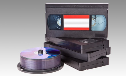 Videotape-to-DVD Conversion and Other Media Services from Digital Images (50% Off). Two Options Available.