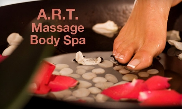 A.R.T. Massage Body Spa - Uptown Broadway: $45 for a Signature Pedicure and Organic Facial at A.R.T. Massage Body Spa ($90 Value)