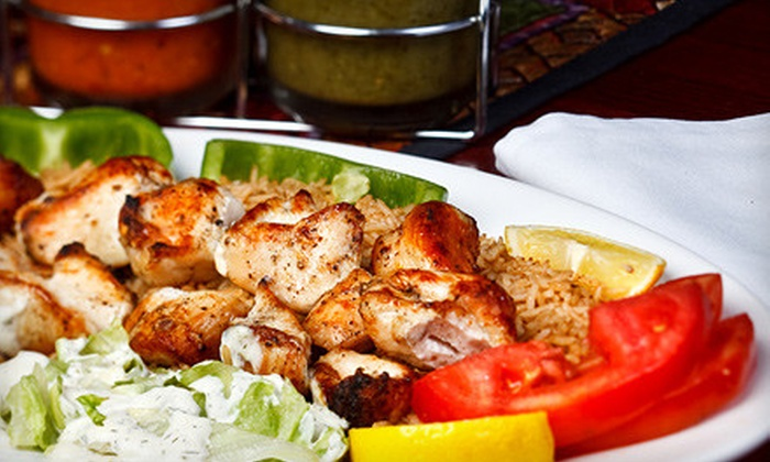 Unaabi Grill - Cary: Afghan Dinner for Two or Four or $10 for $20 Worth of Lunch Fare at Unaabi Grill