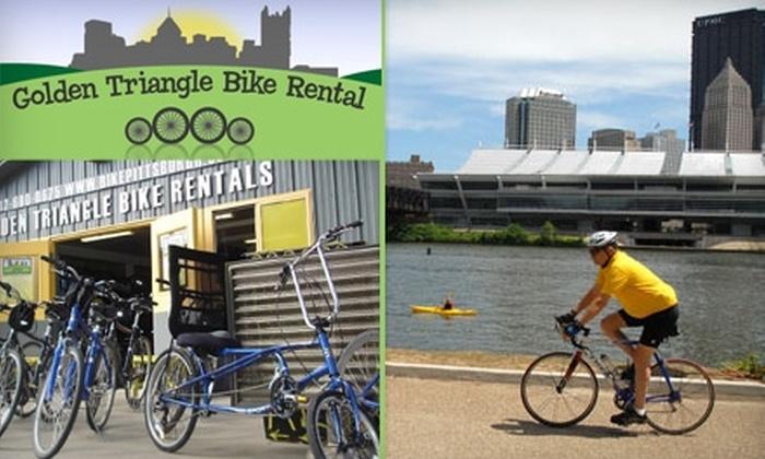 Golden Triangle Bike Rental - Downtown: $10 for $20 Worth of Pedal-Powered Rentals from Golden Triangle Bike Rental