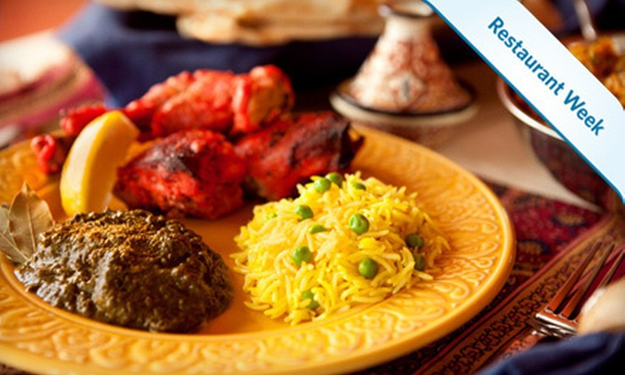 The Mughal Garden - Mount Vernon: Up to 68% Off Prix Fixe Indian Dinner for Two or Four at The Mughal Garden
