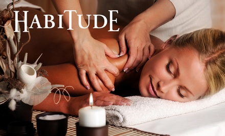 Essential Facial or Essential Massage at Habitude Day Spa and Salon (Up to 38% Off). Two Options Available.