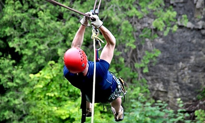 One Axe Pursuits - Elora: $49 for a Zip-Line Experience on August 1 at One Axe Pursuits ($113 Value)