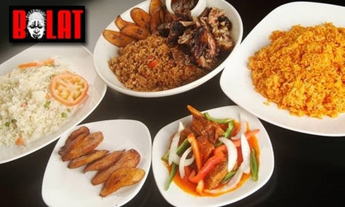 Bolat African Cuisine - Lakeview: $20 for $45 Worth of Nigerian and Ghanaian Fare at Bolat African Cuisine