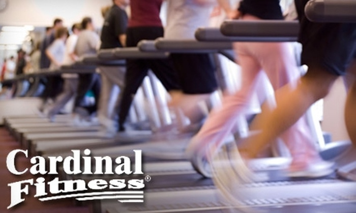 Cardinal Fitness - Multiple Locations: $20 for a Two-Month Membership Plus One Personal-Training Session at Cardinal Fitness ($140 Value)