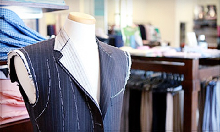 Tossini - Afton Oaks/ River Oaks: Men's Custom-Tailored Suit, Men's Apparel, or Women's Apparel at Tossini
