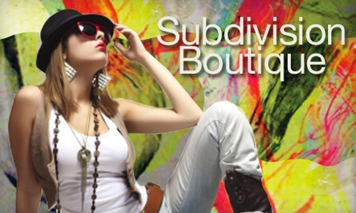 Subdivision - Hunters Point: $20 for $40 of Designer Wear, Gifts, and More at Subdivision