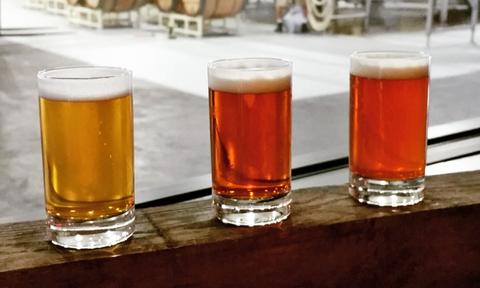 The Unknown Brewing Co - The South End: Brewery Tour with Flights, T-Shirts, and Glasses for Two or Four at The Unknown Brewing Co (Up to 36% Off)