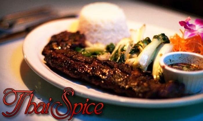 Thai Spice Restaurant - Coral Ridge Isles: $25 for $50 Worth of Thai and Asian Dinner Cuisine at Thai Spice Restaurant
