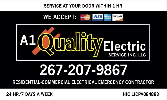 A1 Quality Electrical Services - Philadelphia: One Hour of General Electrical Services from A1 Quality Electric Services (50% Off)