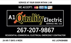 A1 Quality Electrical Services: One Hour of General Electrical Services from A1 Quality Electric Services (50% Off)