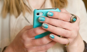 Nails by Michelle: Basic Acrylic Or Shellac Nail Set or Mani-Pedi at Nails by Michelle (Up to 51% Off)
