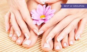 Spa Nails: Mani-Pedi, Reflexology, or Both at Spa Nails (Up to 57% Off)
