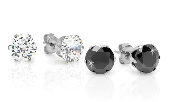 Two-Pack of Cubic Zirconia Studs: Two-Pack of Cubic Zirconia Studs. Free Returns.