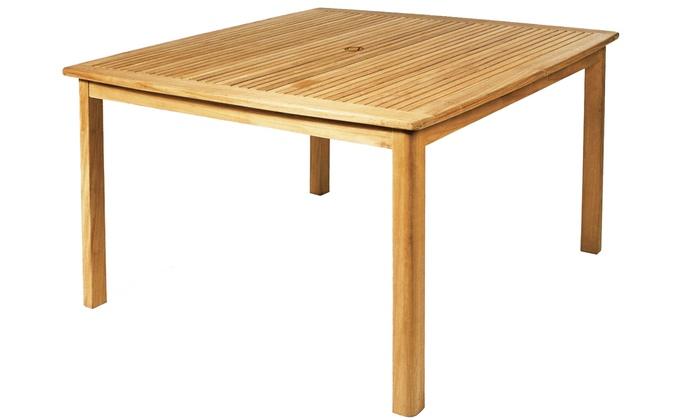 Ploß Teak Tisch 120 X 120 Cm Groupon Goods