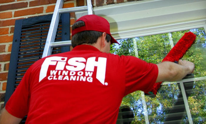 Fish Window Cleaning - Multiple Locations: $40 for $80 Worth of Window Cleaning, Pressure-Washing, or Gutter Cleaning from Fish Window Cleaning
