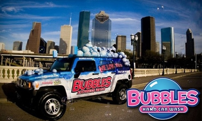 Bubbles Hand Car Wash - Multiple Locations: $21 for Three Hand Car Washes at Bubbles Car Wash ($44.85 Value)