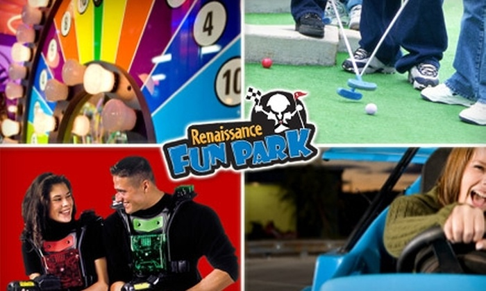 Renaissance Fun Park - East Louisville: $14 for Laser Tag, Mini Golf, Go-Karts, and Arcade Games, Plus 16 Additional Arcade Tokens at Renaissance Fun Park ($32 Value)