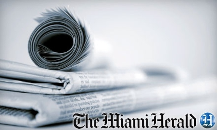 Miami Herald - Media and Entertainment District: $20 for Six-Month Saturday and Sunday Subscription to The Miami Herald