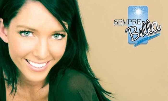 Sempre-Bella - Bellaire: Airbrush Tanning or In-Office LightWhite Teeth Whitening at Sempre-Bella in Bellaire. Choose One of Two Options.
