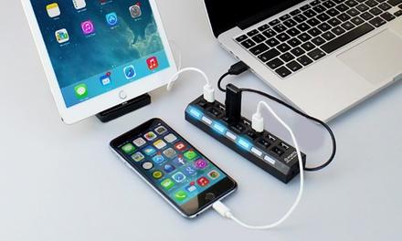 1 o 2 hubs de 7 puertos USB desde 7,95 € (hasta 71% de descuento)