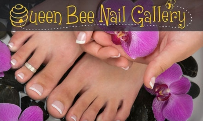 Queen Bee Nail Gallery - Downtown: $25 for an Express Manicure and Pedicure at Queen Bee Nail Gallery