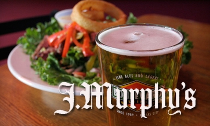 J. Murphy's Irish Pub - Shawnee Crossings Retail Center: $10 for $20 Worth of Hearty Fare and Drinks at J. Murphy's Irish Pub in Shawnee