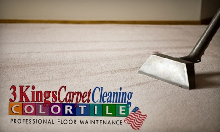 3 Kings CarpetsPlus Color Tile - Fort Wayne: $69 for a Three-Room Carpet Cleaning from 3 Kings CarpetsPlus Color Tile (Up to $240 Value)
