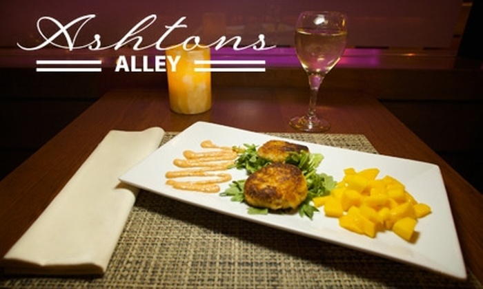 Ashtons Alley - Midtown East: $20 for $40 Worth of Upscale Contemporary American Dinner or $10 for $20 Worth of Brunch and Lunch at Ashtons Alley