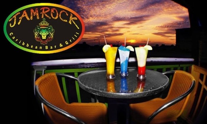 Jamrock Caribbean Bar & Grill - Jacksonville Beach: $10 for $20 Worth of Authentic Jamaican Fare and Drinks at Jamrock Caribbean Bar & Grill