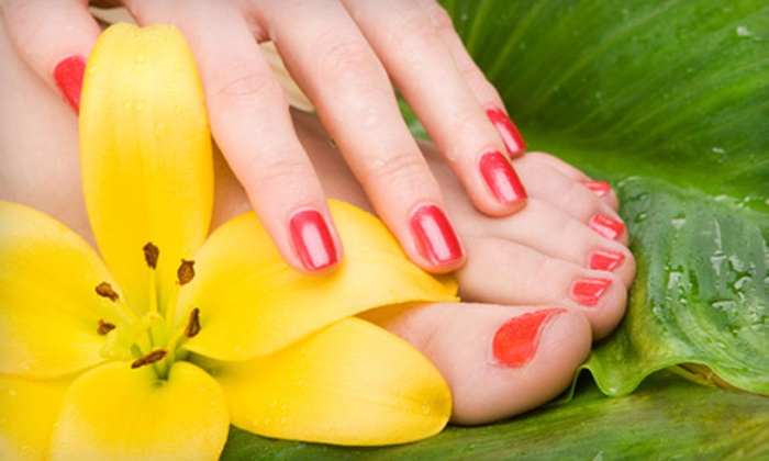 Angel Nails - Smyrna: $28 for a Deluxe Mani-Pedi at Angel Nails in Smyrna ($56 Value)