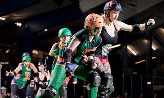 Terminal City Roller Girls - City Centre: $20 for Terminal City Roller Girls Roller-Derby Event for Two at Minoru Arenas on Saturday, August 11 (Up to $40 Value)