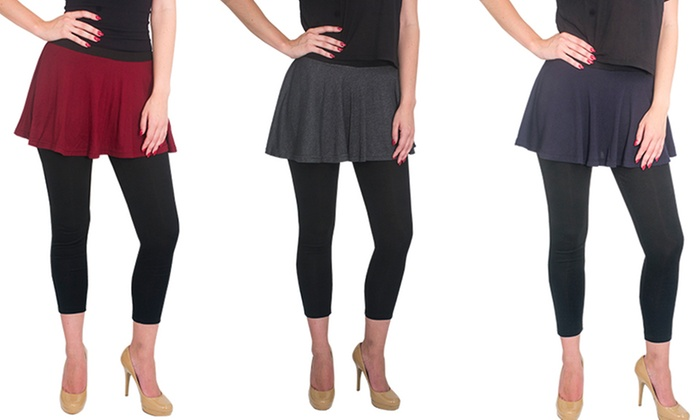 Magid Women's Plus-Size Flared Skirt Leggings | Groupon