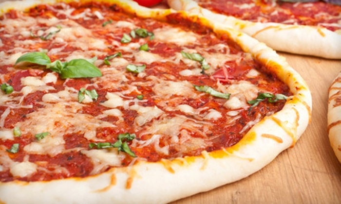 PJ's Pizza - PJ's Pizza: $10 for $20 Worth of Pizza for Carry-Out or Delivery at PJ's Pizza