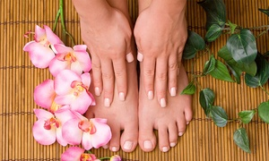 Nirvana Nails: One or Two Gel Manicures, or One Gel Manicure with One Classic Pedicure at Nirvana Nails (Up to 50% Off)