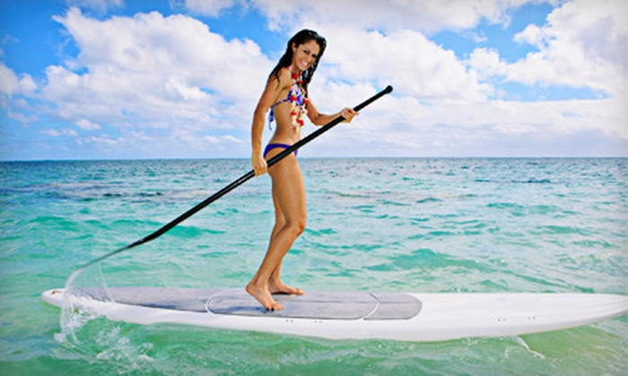 Odysea Surf and Kiteboard School - Carolina Beach: Three-Hour Standup-Paddleboarding Lesson and Tour for Two or Four from Odysea Surf and Kiteboard School (Up to 56% Off)