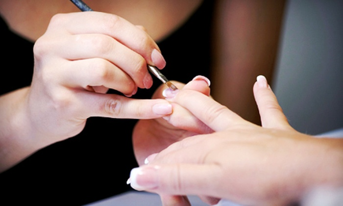 Not Just Nails - Uptown: One or Two Sets of En Vogue French Gel Nails and Nail Fixes at Not Just Nails (Up to 54% Off)