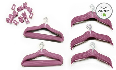 80-Piece Velvet Hanger Set. Multiple Colors Available. Free Returns.