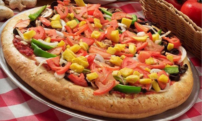 Pier 49 Pizza - Meridian: $20 for Pizza Dinner for Four at Pier 49 Pizza ($40.42 Value)
