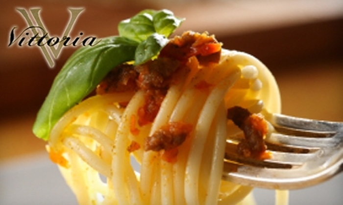Vittoria Ristorante & Bar - Liberty: $20 for $40 Worth of Italian Fare and Drinks at Vittoria