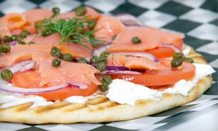 Banksy's Café - Sabina-Mattfeldt: $10 for $20 Worth of Café Fare and Drinks for Two or Punch Card for Five Sandwiches, Wraps, or Salads at Banksy's Café (Up to 56% Off)