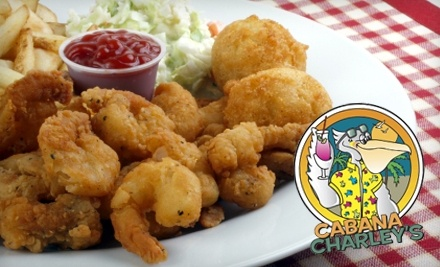 $30 Groupon to Cabana Charley's Tiki Bar and Grill - Cabana Charley's Tiki Bar and Grill in Woodridge
