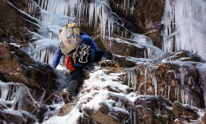 Petra Cliffs Climbing Center & Mountaineering School - South End: Ice-Climbing for Two or Four from Petra Cliffs Climbing Center & Mountaineering School in Burlington (Up to Half Off)